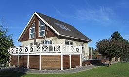 Sandblæsning og facaderenovering af hus Jylland